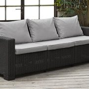Allibert-California-3-Seater-Sofa-Graphite-with-Grey-cushions-0-0