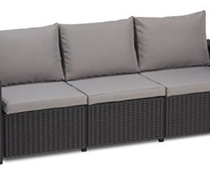 Allibert-California-3-Seater-Sofa-Graphite-with-Grey-cushions-0