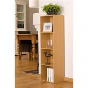 Beech-Finish-4-Shelf-Wooden-Bookcase-0-0
