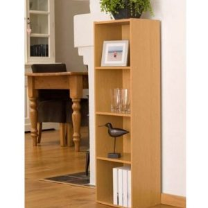 Beech-Finish-4-Shelf-Wooden-Bookcase-0