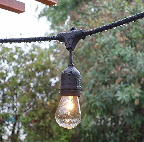 Solar Outdoor String Lights Costco: CALISH 35ft Waterproof Outdoor String Lights Heavy Duty