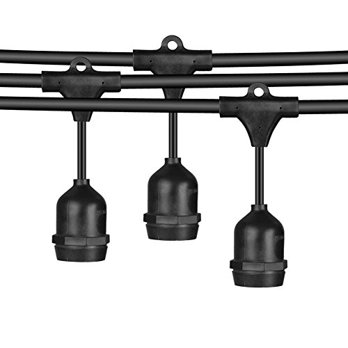 Calish 35ft waterproof outdoor string lights heavy duty commercial calish 33 ft waterproof outdoor string lights heavy aloadofball Images