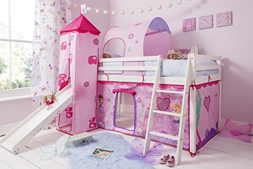 Cabin-Bed-Mid-Sleeper-in-White-with-Fairy-Tent-Tower-Tunnel-70-WG-FAIRIES-0