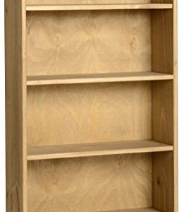 Corona-Mexican-1-Drawer-Bookcase-DVD-Rack-Storage-Unit-Solid-Pine-Waxed-Finish-0