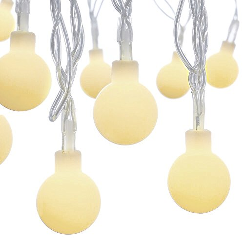 Dailyart-13feet4m-Waterproof-IP44-Long-Globe-String-Light-Starry-Light-for-Gardens-Homes-Wedding-Christmas-Party-Battery-powered-Beige-0