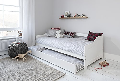 Day Bed Single Bed With Underbed In White 2 Beds In 1