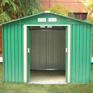 Dirty-Pro-ToolsTM-NEW-METAL-GARDEN-SHED-8-X-6-with-free-base-Please-note-delivery-will-be-26th-September-0