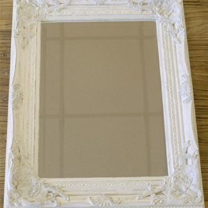 Distressed-Antique-French-Ornate-Style-White-Wall-Mirror-Shabby-Chic-0