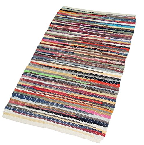 EliteHomeCollection-100-Percent-Recycled-Handmade-Multicoloured-Cotton-Chindi-Floor-Rug-Multi-Colour-0