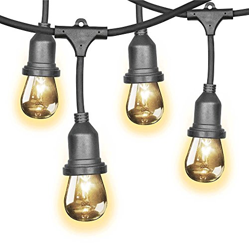 Newhouse Lighting 48 Foot Outdoor String Lights Led Bulbs: Feit 48ft (14.6m) Indoor/Outdoor Weatherproof String