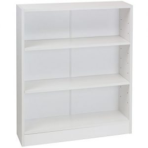 Hartleys-White-3-Tier-Bookcase-0