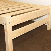 Heavy-Duty-Single-3ft-Wooden-Pine-Bed-Frame-Can-be-used-by-Adults-Strong-siderail-support-legs-included-0-1