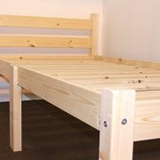 Heavy-Duty-Single-3ft-Wooden-Pine-Bed-Frame-Can-be-used-by-Adults-Strong-siderail-support-legs-included-0-2