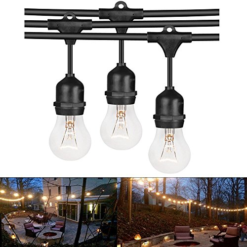 Outdoor String Lights Heavy Duty: Heavy Duty Vintage Connectable Strand Indoor Outdoor