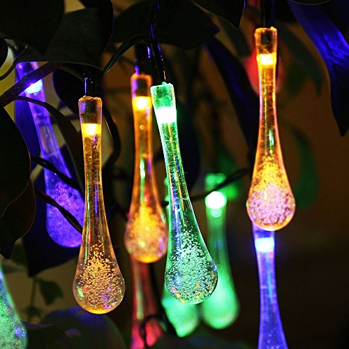 IVSO-Solar-Outdoor-String-Fairy-Lights-20ft-30-LEDs-Water-Drop-Shape-IP65-Waterproof-Solar-String-Fairy-Lights-Ambiance-Lighting-for-Gardens-Patio-Yard-Homes-Christmas-Party-Tree-and-all-other-festiva-0
