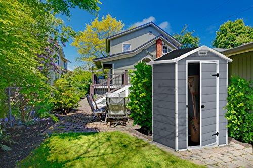 Keter Manor Vertical 4 X 3 Ft Resin Outdoor Garden Storage