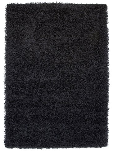 Luxury Super Soft Black Shaggy Rug 7 Sizes Available