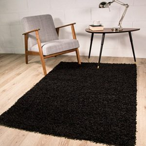 LUXURY-SUPER-SOFT-BLACK-SHAGGY-RUG-7-SIZES-AVAILABLE-0