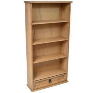 Mercers-Furniture-Corona-1-Drawer-DVDBookcase-Storage-Rack-0