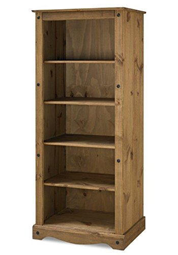 Mercers-Furniture-Corona-Bookcase-Wood-Antique-Pine-Large-0