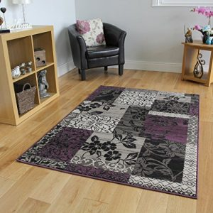 Milan-Purple-Black-Grey-Patchwork-Rug-1568-H33-10-Sizes-0