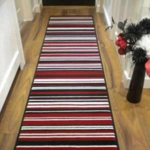 Modern-Stripe-Rug-Red-Black-Hall-Runner-60cm-x-220cm-0