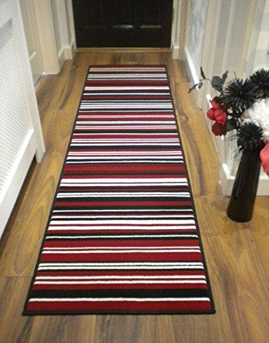 Modern-Stripe-Rug-Red-Black-Hall-Runner-60cm-x-220cm-0