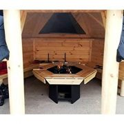 Open-Wooden-BBQ-Hut-92m2-Summer-House-Grill-Hut-Teak-House-Comes-with-Bitumen-Tiles-BBQ-GrillFire-with-Cooking-Platforms-Table-around-the-Grill-Adjustable-Chimney-3-Interior-Benches-0-0