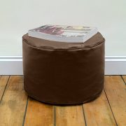 Round-Beanbag-Stool-in-Faux-Leather-by-Bean-Bag-Bazaar-0-1