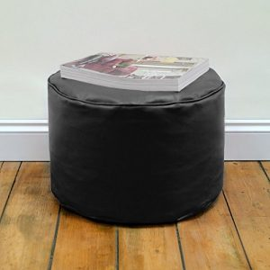 Round-Beanbag-Stool-in-Faux-Leather-by-Bean-Bag-Bazaar-0