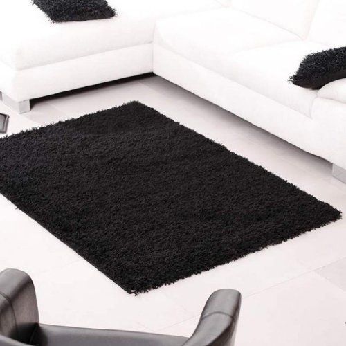 Shaggy-Rug-963-Plain-5cm-Floor-Carpet-Thick-Soft-Pile-Modern-Stylish-100-Berclon-Twist-Fibre-Non-Shed-Polyproylene-Heat-Set-AVAILABLE-IN-7-SIZES-by-Quality-Linen-and-Towels-0