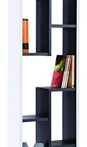 Shelf-Graphite-521-5-Compartment-Bookcase-Office-Shelf-Cabinet-BlackWhite-0
