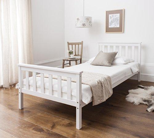 Single-Bed-in-White-3ft-Single-Bed-Wooden-Frame-WHITE-Dorset-0