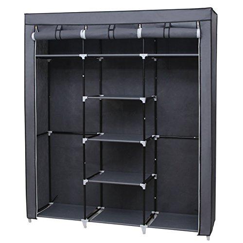 Canvas Storage Boxes For Wardrobes: Songmics Canvas Wardrobe Bedroom Furniture Cupboard