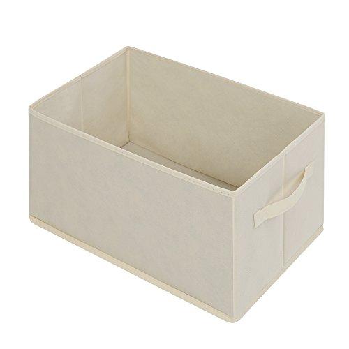 Canvas Storage Boxes For Wardrobes: VonHaus Canvas Effect Wardrobe Clothes Cupboard Hanging