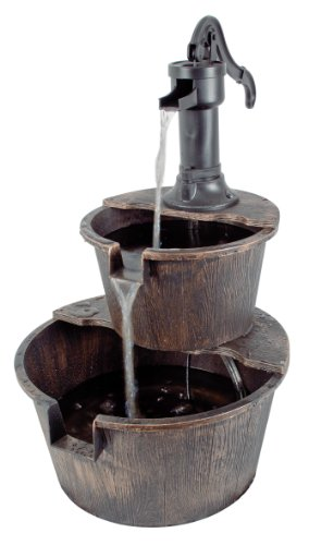 2-Tier-Barrel-Water-Feature-with-Traditional-Hand-Pump-0