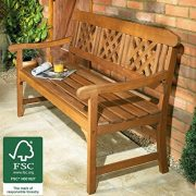 3-Seater-Wooden-Garden-Bench-Quality-All-weather-Eucalyptus-Hardwood-with-brass-plated-fittings-Certified-by-FSC-Forestry-Stewardship-Council-This-Lovely-Outdoor-Furniture-is-perfect-for-a-Conservator-0-1
