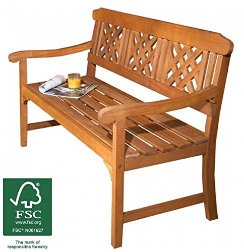 3 Seater Wooden Garden Bench Quality All Weather Eucalyptus