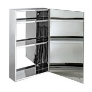 600-x-400-Stainless-Steel-Bathroom-Mirror-Cabinet-Modern-Single-Door-Storage-Unit-0-0