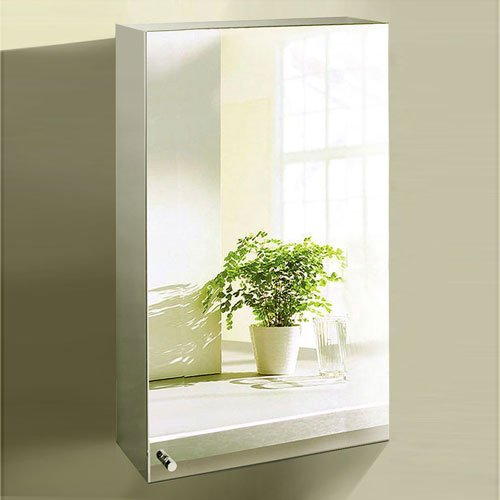 600-x-400-Stainless-Steel-Bathroom-Mirror-Cabinet-Modern-Single-Door-Storage-Unit-0