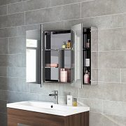 600-x-900-Stainless-Steel-Bathroom-Mirror-Cabinet-Modern-Triple-Door-Storage-Unit-0-0