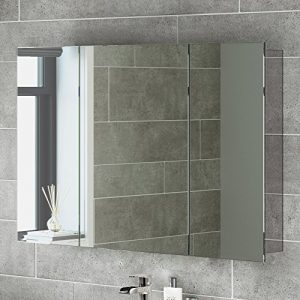 600-x-900-Stainless-Steel-Bathroom-Mirror-Cabinet-Modern-Triple-Door-Storage-Unit-0