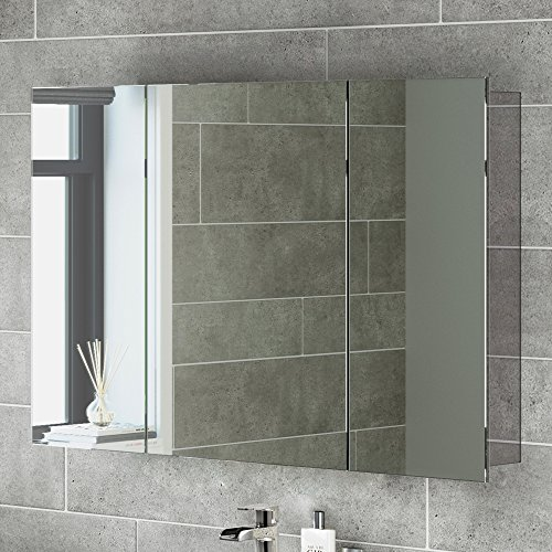 600 X 900 Stainless Steel Bathroom Mirror Cabinet Modern