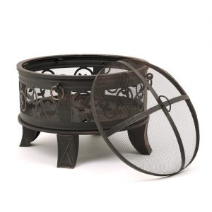 66-cm-Fire-Pit-Spark-Guard-Rain-Cover-Poker-Santorini-Antique-Bronzed-Finish-0