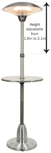 Andrew James Premium Adjustable Brushed Stainless Steel