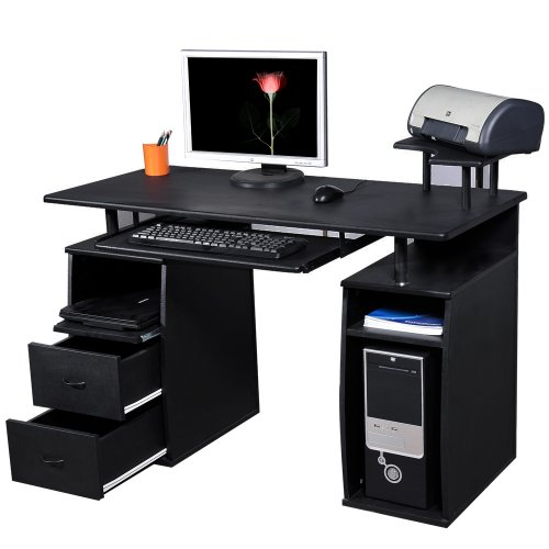 Btm Pc Table Computer Desk With Drawers For Home Office