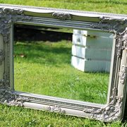Best-Selling-French-Silver-Shabby-Vintage-Antique-Style-Wall-Mirror-with-Bevelled-Glass-Overall-Mirror-Size-17-inches-x-21-inches-43cm-x-53cm-0-1