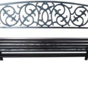 Black-Metal-Garden-Bench-Seat-Outdoor-Seating-with-Decorative-Cast-Iron-Backrest-0-0