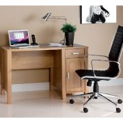 Blue-Box-Amazon-Rectangular-Workstation-in-Oak-with-Fixed-Drawer-Storage-Unit-0-0