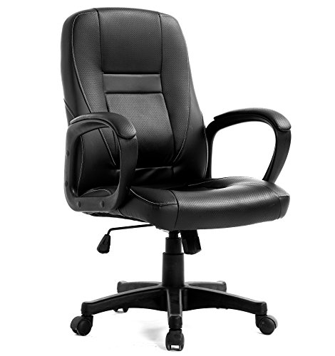 Brand-New-Design-Swivel-PU-Leather-Brown-Black-Color-Office-Chair-0